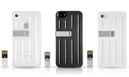 Veho S7 Case for iPhone 4/4S or 5/5S with 8GB USB Memory Drive