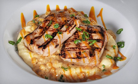 American Food at Bonfire Bar & Grill (Half Off). Two Options Available.