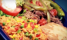 Mexican Cuisine at Red Pepper Grill (Half Off). Two Options Available.