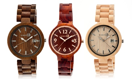 Earth Eco-Friendly Wood Watches. Multiple Styles Available from $54.99–$59.99.