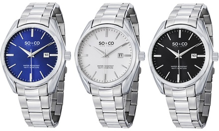 SO & CO New York Men's Classic Dress Watch