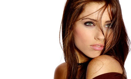 Haircut and Style, With Option of Single-Process Color or Partial Foils at Green Envy Salon & Spa (Up to 52% Off)