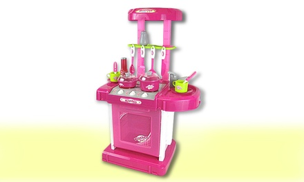 18-Piece Light Up Kitchen Play Set with Sound