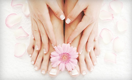 One or Two Peppermint Mani-Pedis at Nail Care (Up to 61% Off)