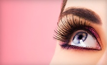 Full Set of Basic or Glam Girl Eyelash Extensions with Optional Fill-Ins at Salon Flor (Up to 58% Off)