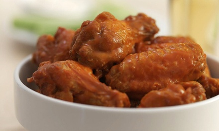 Wings, Burgers and Wraps for Two or Four at Buffalo Wings & Rings (Up to 50% Off)