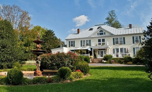 TripAlertz wants you to check out 2-Night Stay for Two with Wine, Chocolates, and Coupons to Local Wineries at The Mark Addy Inn in Nellysford, VA Boutique B&B near Virginia Wineries - Romantic Virginia B&B