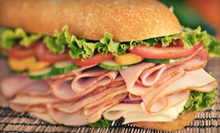 $6 for Two Eight-Inch Subs, Cheese Calzones, or Cheese-and-Pepperoni Calzones at Diag Pizza & Subs ($11.98 Value)