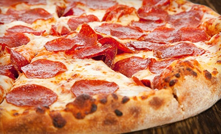 $8 for Two Large Pizzas with Unlimited Toppings at Eagle One Pizza ($16 Value)