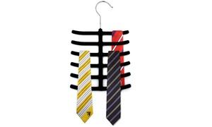2-pack Of Velvet Space Saving Tie, Belt & Scarf Hangers