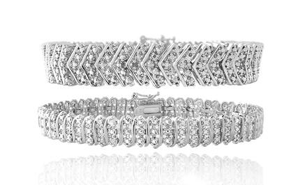 1.00 CTTW Diamond Bracelets