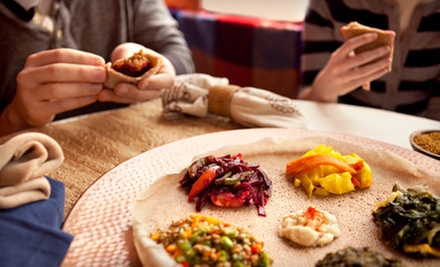 $17.50 for Authentic Ethiopian Meal for Two at T&#x27;s Place (Up to $35.85 Value)