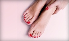 Express or Valentine Luxury Spa Mani-Pedi, or Express Mani-Pedi with Acrylics at Wild Strandz Hair Salon (Up to 53% Off)
