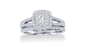1.00 Cttw Diamond Bridal Set In 10k Gold – By Bliss Diamond