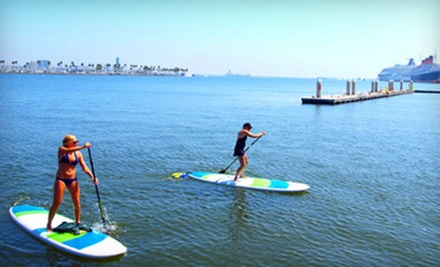$30 for a Two-Hour Standup-Paddleboard Group Lesson and Tour from Long Beach Adventure Tours ($60 Value)