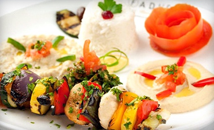 $10 for $20 Worth of Mediterranean Dinner Cuisine SundayThursday or Friday and Saturday at Fadi&#x27;s Mediterranean Grill