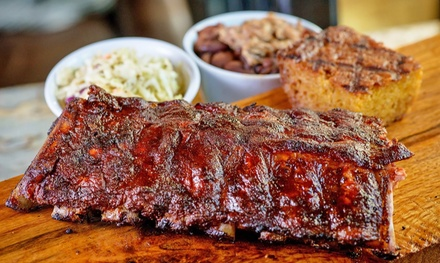 Slow-Smoked BBQ and Fixins at Baby Blues BBQ (40% Off). Two Options Available.