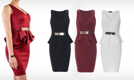 Vestido sem mangas Peplum por 19,99€ ou dois por 36,99€
