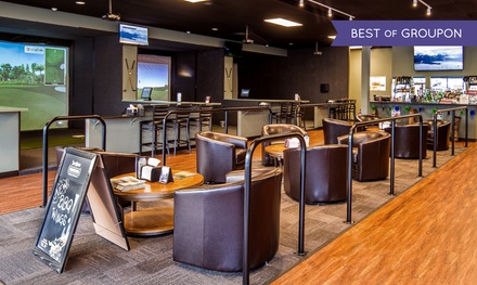 $30 for One Hour of Virtual Golf with Two Beers or Well Drinks at Clubhouse Golf Center ($50 Value)