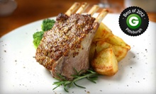 American Dinner with Starters, Entrees, and Dessert for Two or Four at Georgetowne Inn (Up to 53% Off)