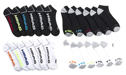 12-Pairs of Men's Head Pack Moisture-Wicking Socks