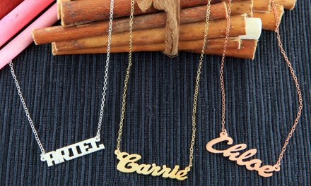 Personalized Nameplate Necklace from Monogram Online