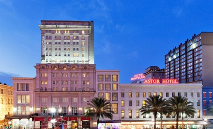 groupon daily deal - Stay at Astor Crowne Plaza New Orleans in the French Quarter, with Dates into August