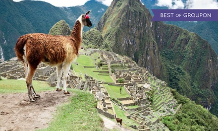 groupon daily deal - ✈ 10-Day Tour of Peru with Airfare and Some Meals from Gate 1 Travel. Price/Person Based on Double Occupancy.