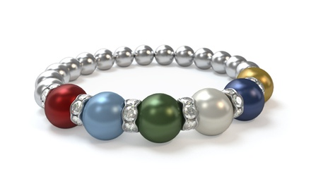 Custom Birthstone Bracelet with Swarovski Pearls from Pearls by Laurel