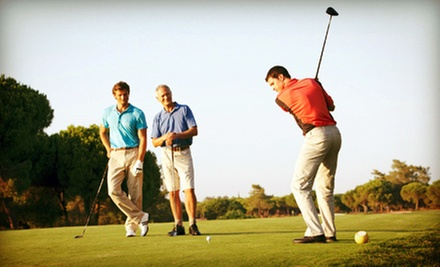 18 Holes of Golf with Cart, Hot Dogs, and Large Fountain Drinks for Two or Four at Oak Hills Golf Center (Up to 56% Off)