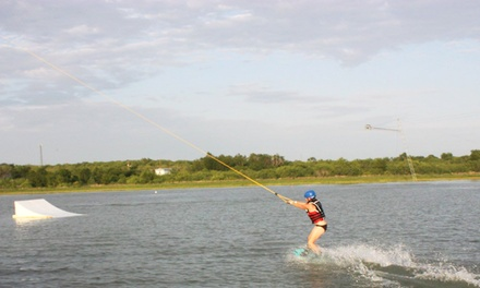 Four-Hour Cable-Wakeboarding Package for Two or Four at Quest ATX (Up to 51% Off)