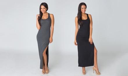 Women's Cutout Maxi Tank Dress