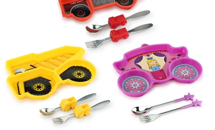 groupon daily deal - Me Time Kids' Dump Truck, Fire Engine, or Princess 3-Piece Dining Set