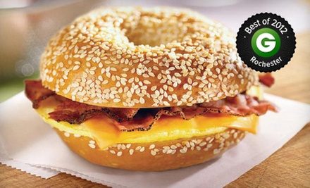 $20 for a $40 Gift Card Good for Bagels, Bagel Sandwiches, Deli Food, Drinks, and More at Bruegger&#x27;s