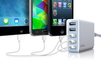 GROUPON: Photive Five-Port 25W USB Rapid Charger with Auto... Photive Five-Port 25W USB Rapid Charger with Auto Detect Feature