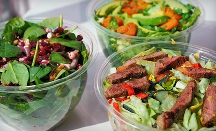 $12 for Two Salads or Wraps and Two Smoothies or Soft Drinks at Naked Greens (Up to $27.28 Value)