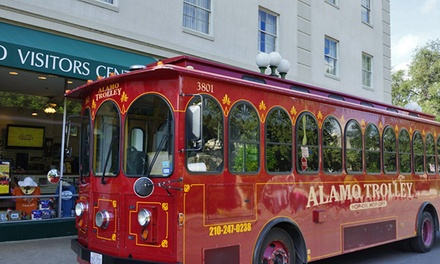 One-Hour Narrated Trolley Tour for Two Adults or Two Adults and Two Kids from The Alamo Trolley (Up to 48% Off)