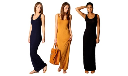Women's Maximal Elegance Maxi Beach Dress with Quick-Dry Fabric