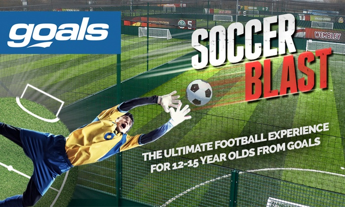 Goals Soccer Centres - Multiple Locations: Soccer Blast For Up to Ten Children for £65 at Goals Soccer Centre (48% Off)