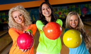 Bowling And Shoe Rental For Six Or Bowling, Glow Golf, And Arcade Tokens For Six At Fatcats (up To 55% Off)