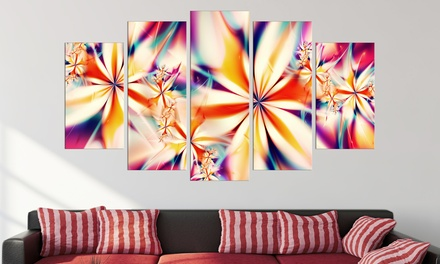Gallery-Wrapped Fractal Print on Canvas—1–Panel or 5–Panel from 32'' to 60'' Wide