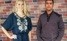 Designer Apparel for Men and Women at Post and Nickel (Half Off). Two Options Available.
