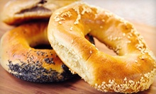 One or Two Dozen Bagels with Cream Cheese at Mocha Bagels (Up to 56% Off)