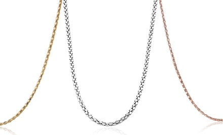Diamond-Cut Popcorn Chain Necklaces