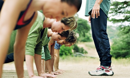 One Month of Boot Camp or 10 Vouchers, Each Good for a Drop-In Class at Greenlake Bootcamp (Up to 63% Off)