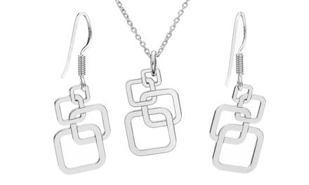 Brincos ou colar de prata modelo Squares desde 14,99€ ou conjunto desde 19,99€