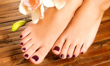 $30 for a Spa Mani-Pedi at Salon Mikimoto ($60 Value)