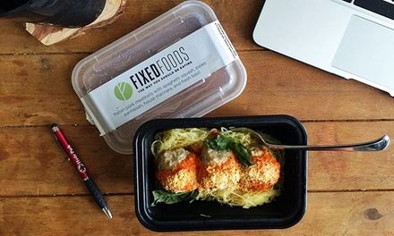 3, 5, 7, or 10 Delivered Paleo Meals from Fixed Foods (Up to 53% Off)