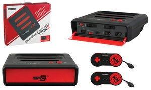 Super Retrotrio Nintendo, Super Nintendo, And Sega Genesis 3-in-1 Console System