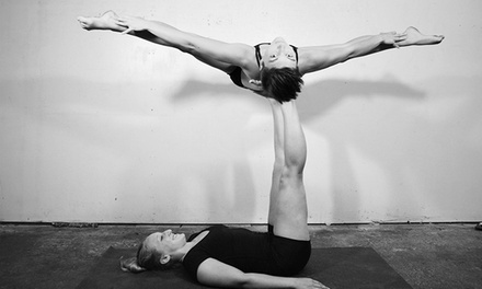 10 Acro-Yoga Classes or One Month of Unlimited Classes for a Family of Four at Acro Athens (Up to 70% Off)